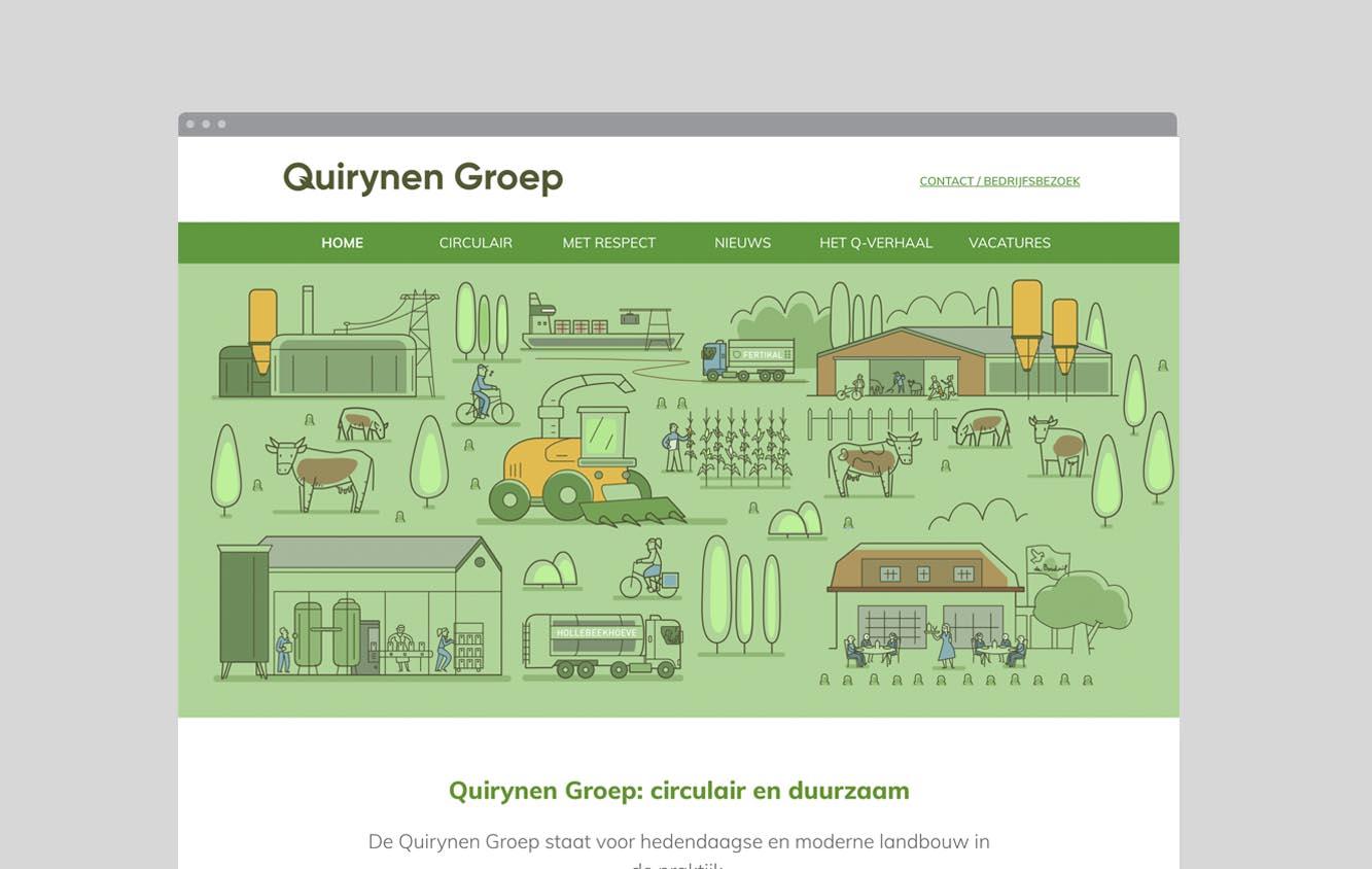 Foto van de website van de Quirynen Groep