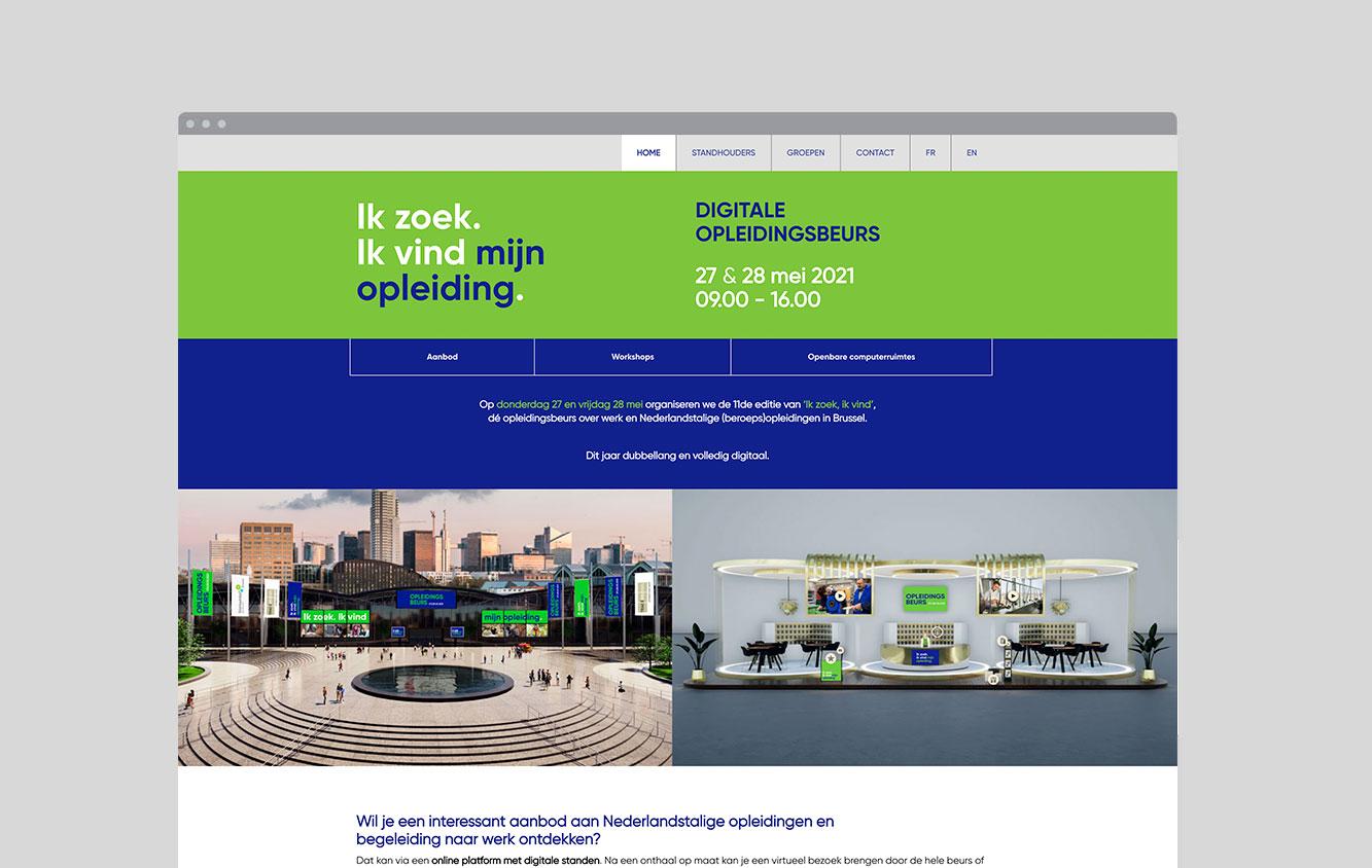 Foto van de homepage van de Opleidingsbeurs