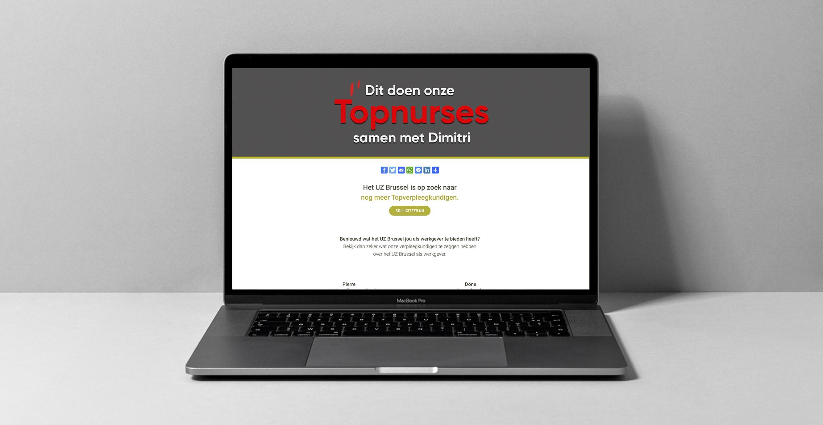 Foto van de website wat deed dimitri?